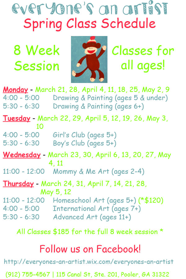 art classes kids Pooler
