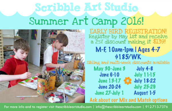 Summer Art Camps Scribble Art Studio