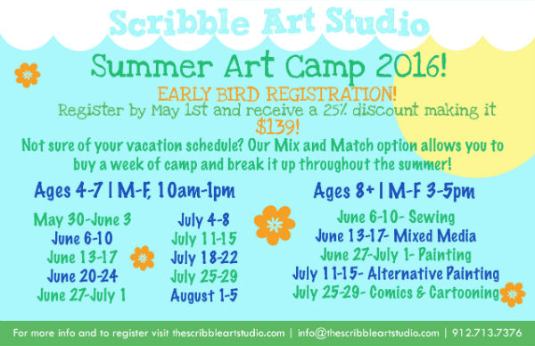 Summer Art Camp Savannah Scribble