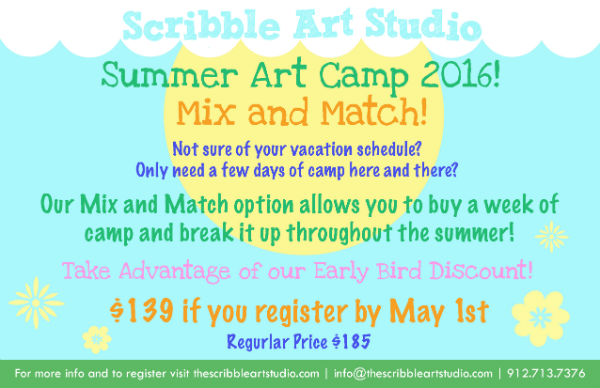 Summer Art Camp 2016 Scribble Art Studio