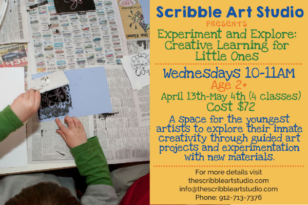 Scribble Art Studio art classes for toddlers