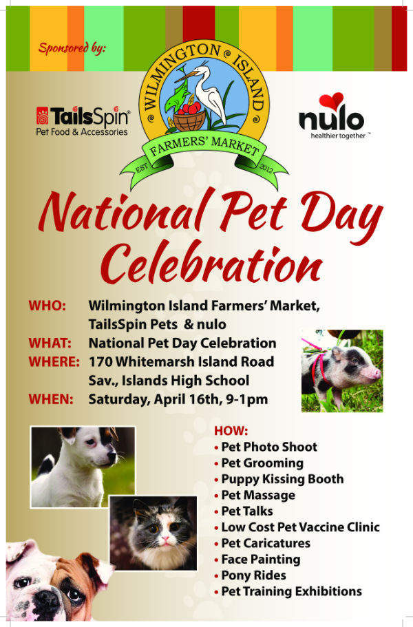 Pet Day Celebration Wilmington Island Farmers Market Savannah 2016