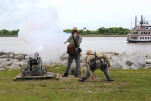 Old Fort Jackson cannon firings Savannah