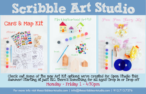 Open Studio Kid Drop-off Summer 2016 Scribble Art Studio Savannah