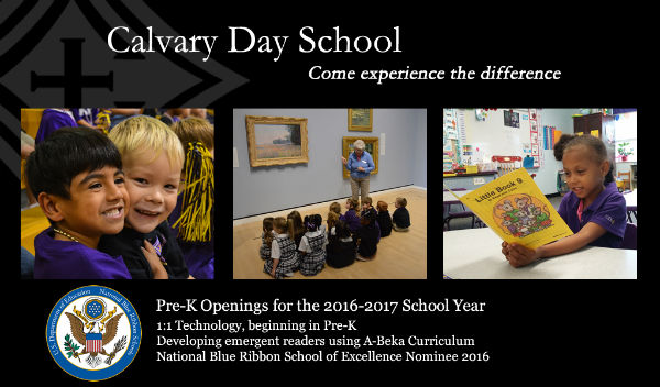 pre-K Calvary Day School Savannah