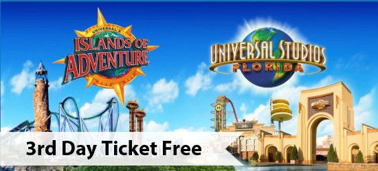3rd Day Free at Universal Orlando Resort