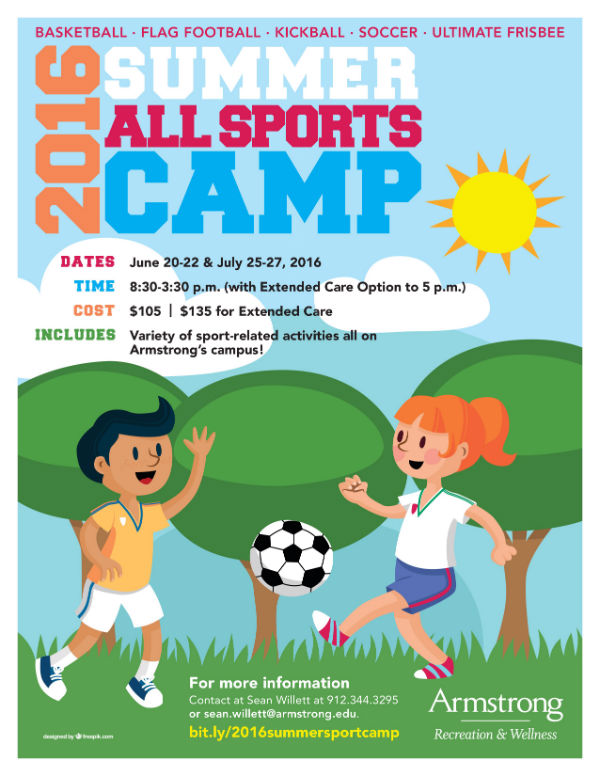 Sports Summer Camps 2016 Armstrong Savannah