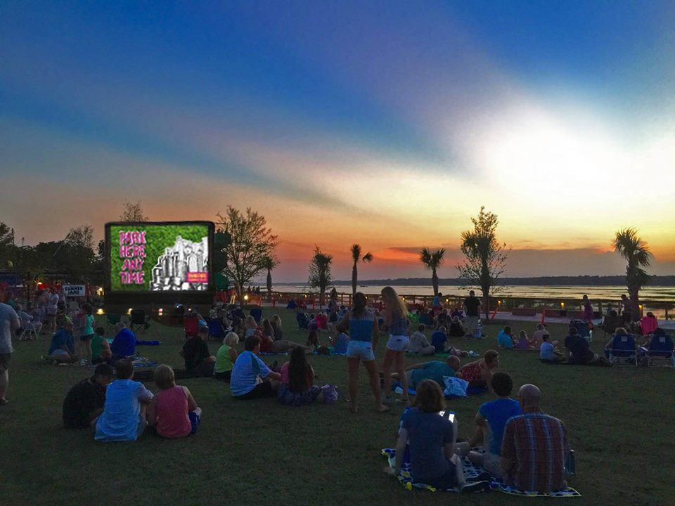 Free summer movies in the Park Hilton Head Tybee Island