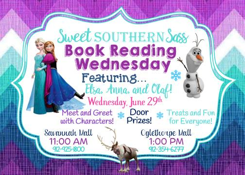 Frozen Elsa Anna Olaf book reading Savannah