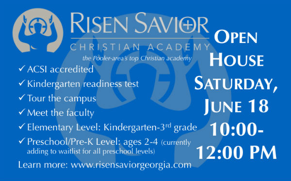 Open House at Risen Savior Christian Academy Pooler schools