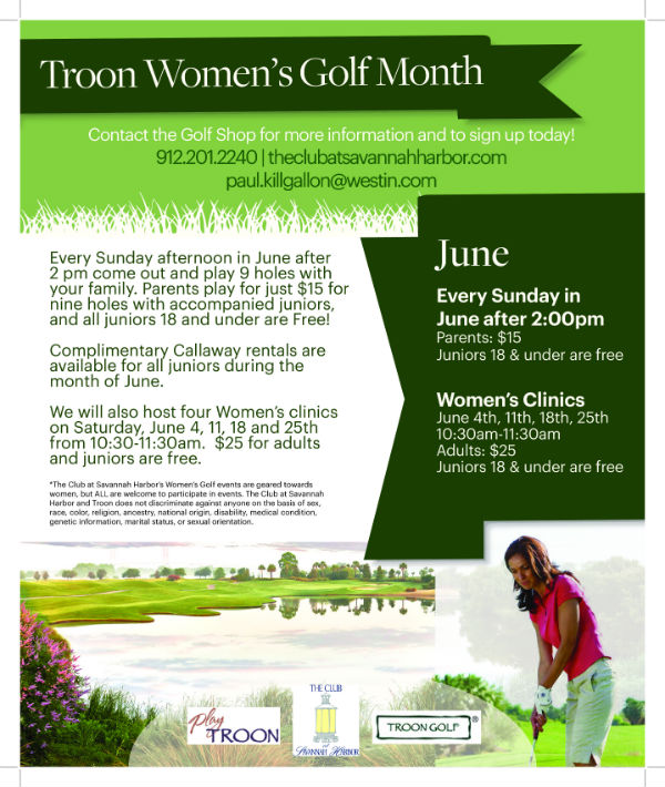 Women's Golf Month Specials Club Savannah Harbor