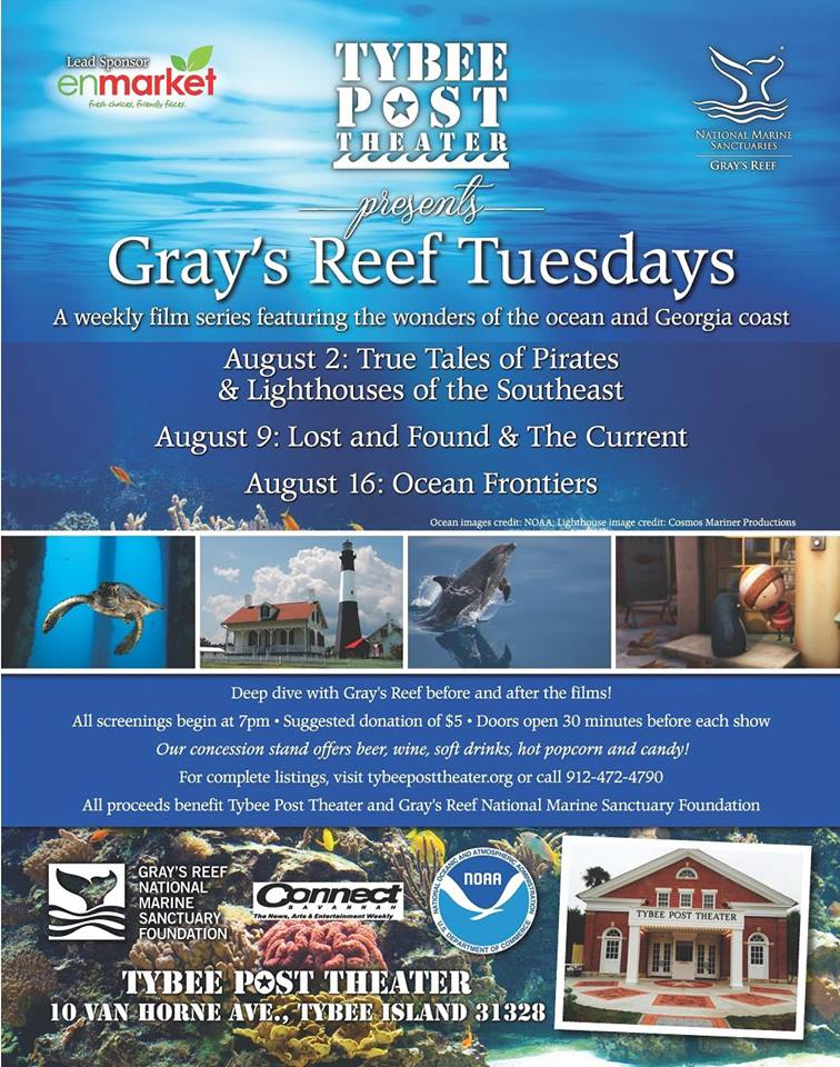 Gray's Reef Tuesdays Tybee Post Theater 2016