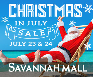 Christmas in July Savannah Mall Sale Ice Skating Santa