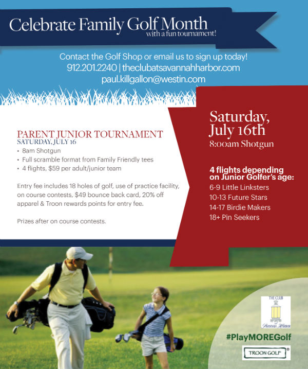 Junior Parent Golf Tournament Savannah July 2016