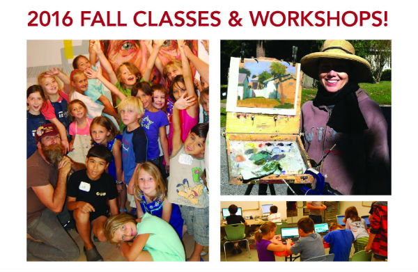 Fall art classes video game development Savannah Telfair Museums