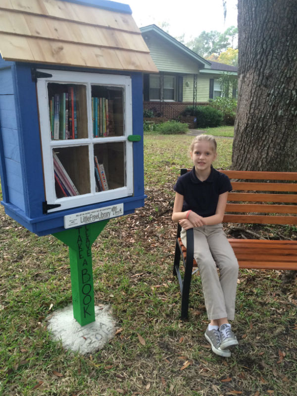 Little Free Library steward Savannah