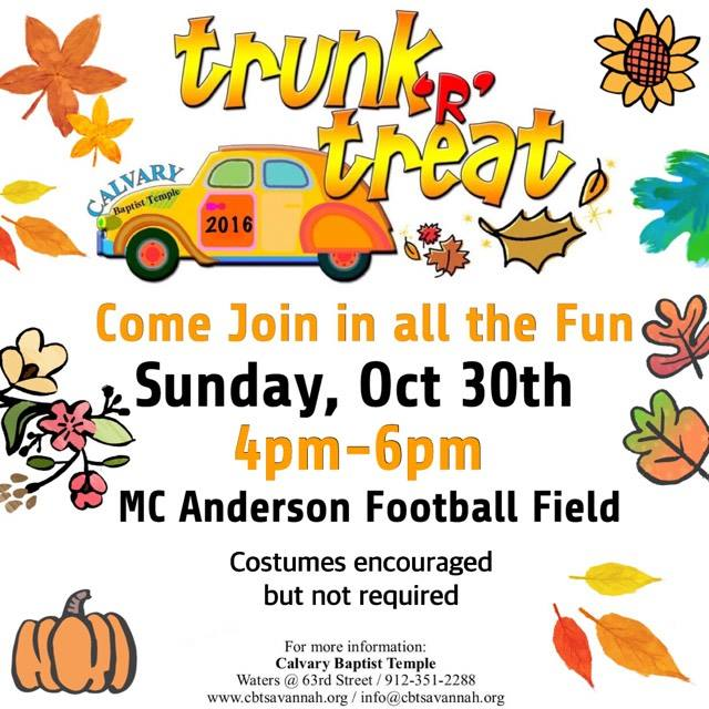 Trunk or Treat Calvary Savannah 2016