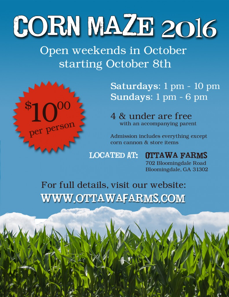 Ottawa Farms Corn Maze Pumpkin Patch 2016 Savannah