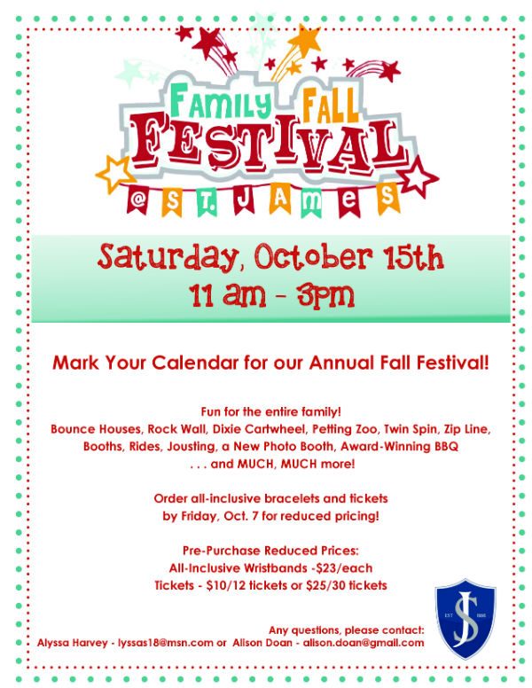 St. James Fall Festival 2016 Savannah