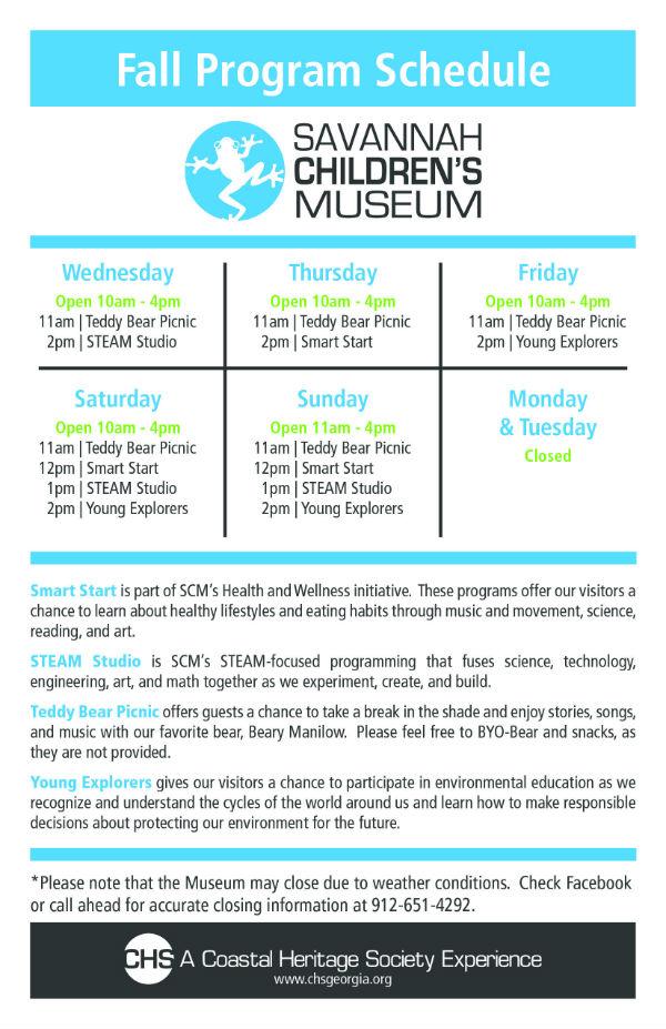 Daily programs @ Savannah Children's Museum