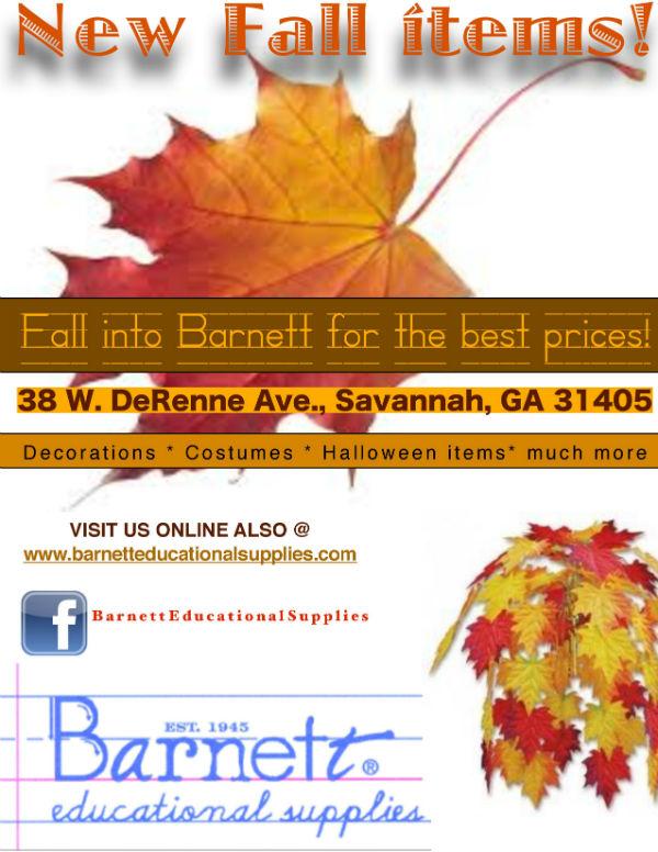 Fall decorations Savannah Barnett Educational Supplies