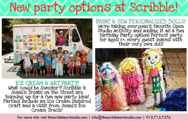 Children's Birthday Party Places Ideas Savannah Scribble Art Studio