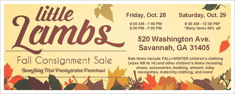 Little Lambs Fall Consignment Sale Savannah 2016
