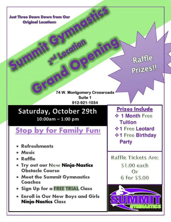 Summit Gymnastics Tumbling Savannah