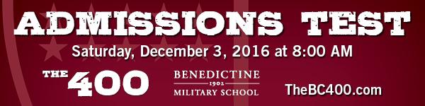 Savannah schools admissions Benedictine Military School 2016
