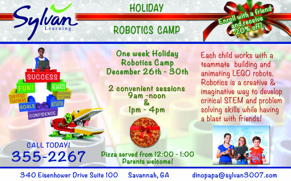 Sylvan Robotics Holiday Camp Savannah Math Tutors