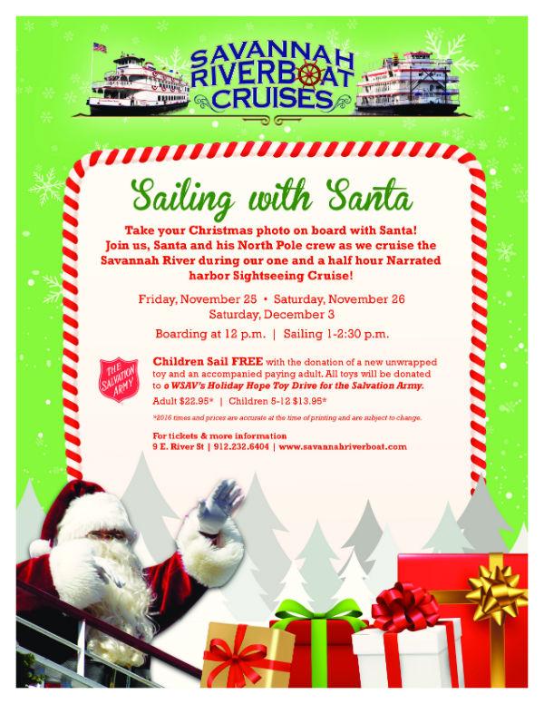 Santa Cruise Savannah Riverboat Cruises Things to Do Holidays Christmas