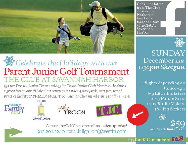 Junior Parent Golf Tournament Holiday Savannah Kids Golf