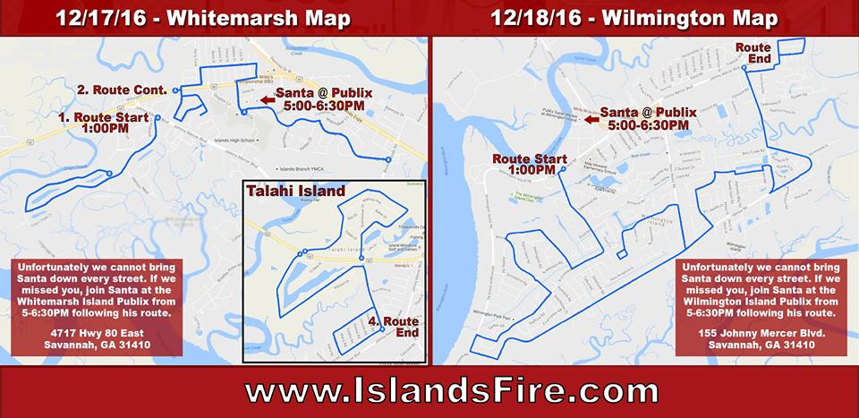 Santa Islands Fire Department Wilmington Whitemarsh Savannah