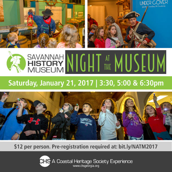 Night at the Museum 2017 Savannah History Museum
