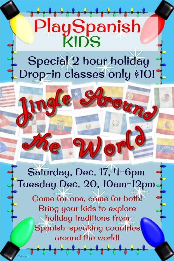 Drop off Spanish classes kids Savannah holidays group lessons