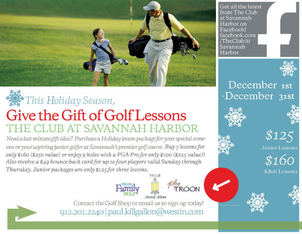 Golf Lessons Christmas Present Savannah