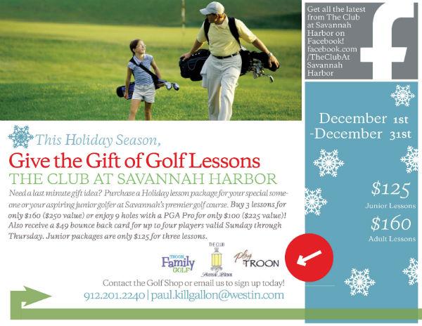 Golf Lessons Christmas Present Savannah