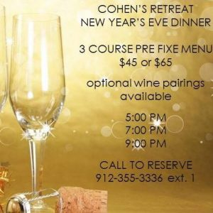 Savannah restaurants New Year's Eve 2016 ladies night