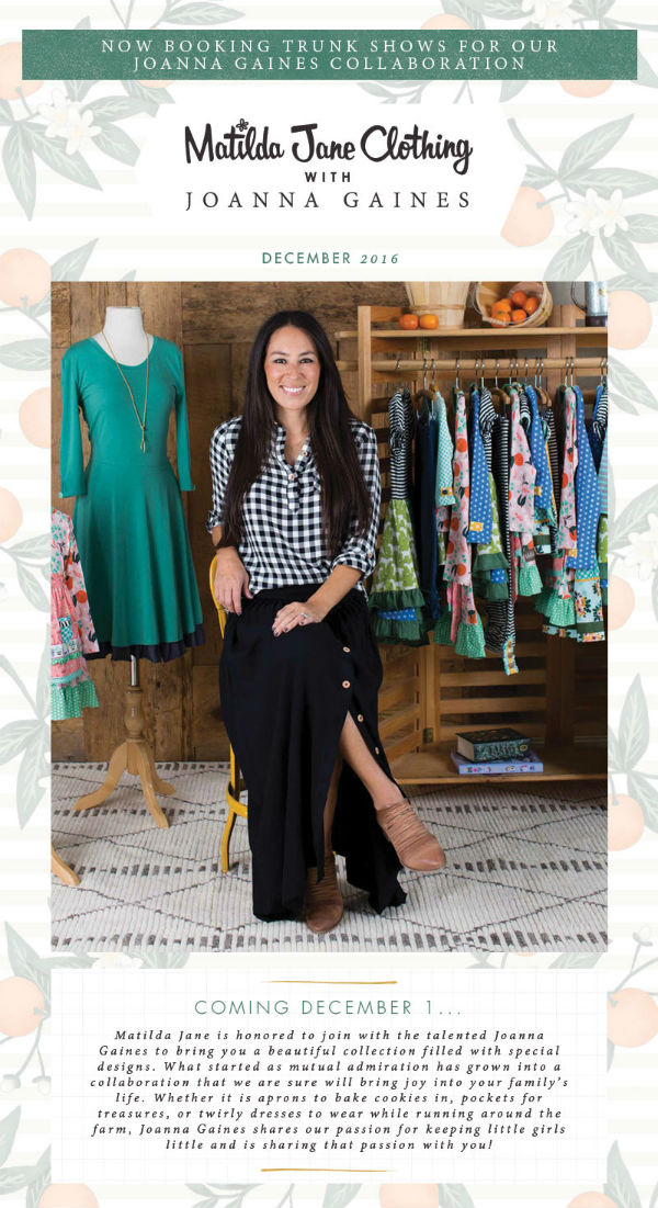 Matilda Jane Trunk Shows Joanna Gaines Savannah Bluffton Beaufort Hilton Head