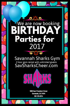 Savannah Children's Birthday Parties Savannah Sharks Gym