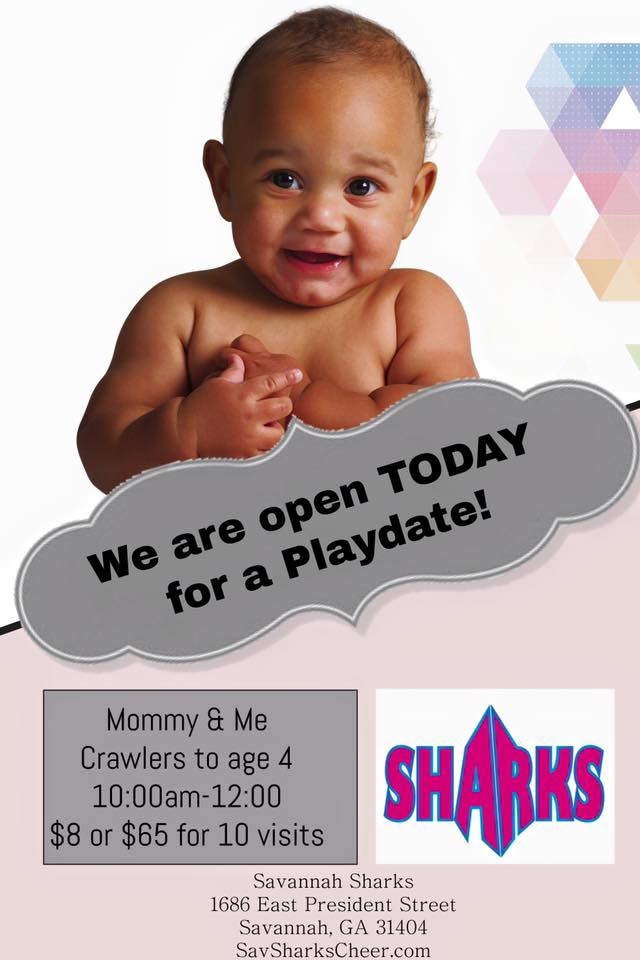 Mommy & Me Crawlers Playdate Sharks Gym Savannah 2017