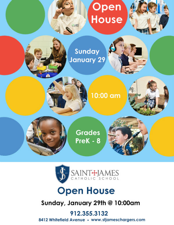 St. James Catholic School Savannah Open House Jan. 2017