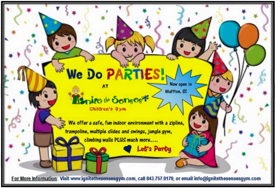 kids children birthday parties Savannah Hilton Head Bluffton autism