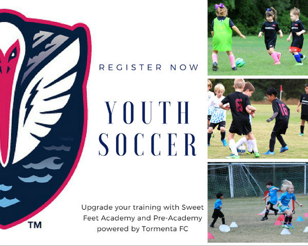 youth soccer in Savannah Hilton Head Is. Tormenta Storm Sweet Feet Academy Spring 2017