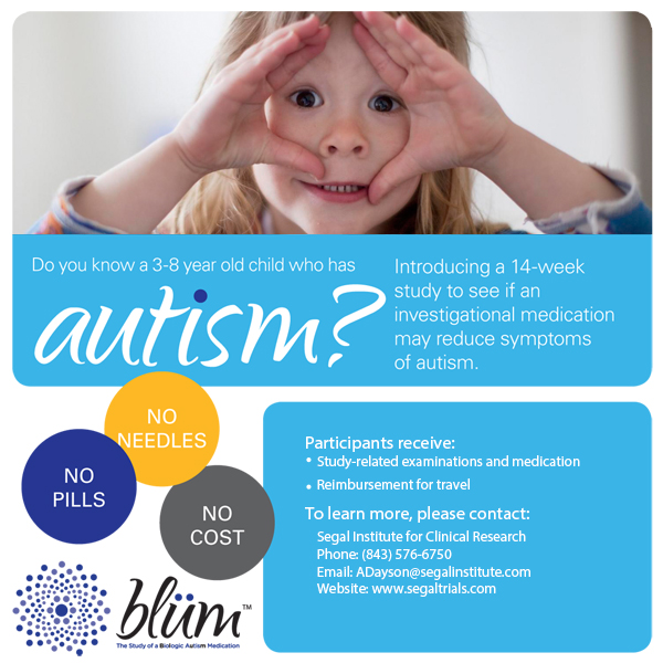 autism medication clinical trial blum study