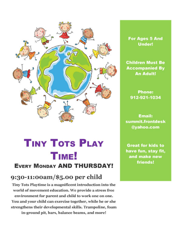 Tiny Tots Play Time Mommy & Me Summit Gymnastics Savannah