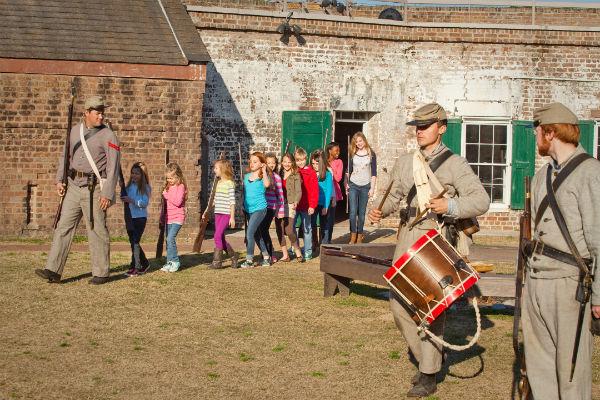 Old Fort Jackson Campover sleepover Coastal Heritage Society Savannah