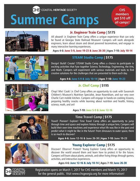 Savannah Summer Camps 2017 Savannah Children's Museum Georgia Railroad Museum