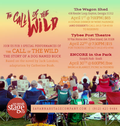 Free Call of the Wild performance outdoors Forsyth Park 2017 Savannah