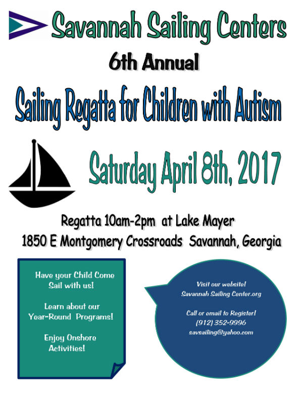 Sailing Regatta for Children with Autism Savannah 2017